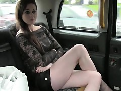 Skanky amateur passenger ass-fuck pounded for a free taxi fare