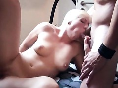 Lean German Teenager in privat Gang-fuck with 3 old fellows