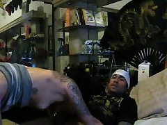Dude Mexican fellow smashes tatted super-bitch