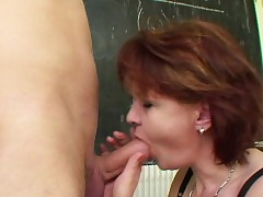 Milf Teacher demonstrate young german fellow how to get preggie
