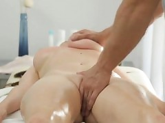 Enormous melon Russian dame gets a sensual rubdown