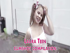 Laura Teen cum-shot compilation