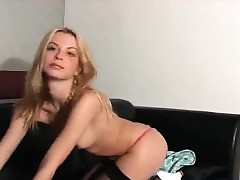 pointy hot blonde slow unclothing