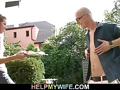 A fellow is invited to bang old man wife