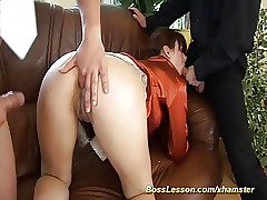 extraordinary anal lesson by our boss