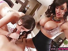 Lisa Ann gave the lucky girl a hands on step mother sex lesson