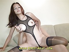 Undemanding Brown Witnessed Asian Ass-fuck