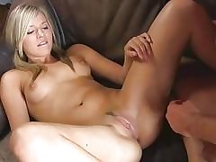 Dame taunts cock-squeezing pinkish puss with her fingers