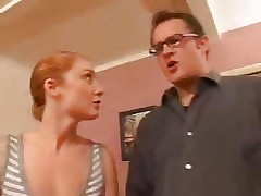 Natural Redheaded Babysitter Gets A Good Fucking !