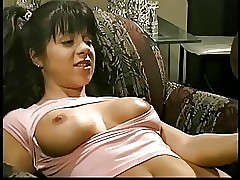 Monster ebony cock face and pussy ravages a lusty black-haired with pigtails