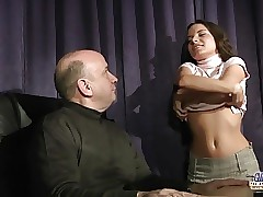 Young student fucks old teacher to promote her