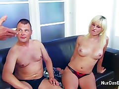 daughter get fuck by NOT Step-dad and Boyfriend in 3some