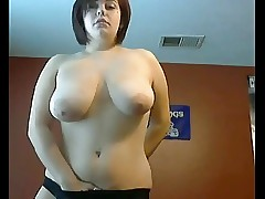 Splendid Fat Chubby Teen showing me her Big tits on cam