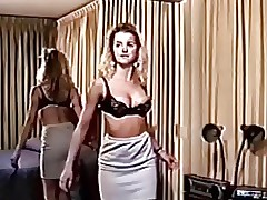 Retro vintage chick striptease