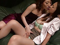 Mind-blowing asian lesbian duo getting very naughty