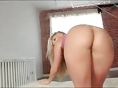 blonde yoga stunner takes a thick bbc