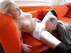 Sexually aroused youthful dame gets practice with old paramour