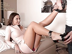 julie skyhigh finest shoejob EVER in leaned louboutin stilettos