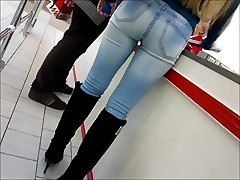 Beautiful ass in taut jeans.