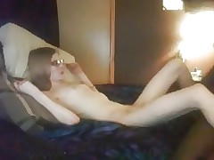 skinny girl with glasses fuck big black cock web cam