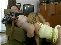 Very Old Guys Enjoy Munching On Tight Teenage Pussy