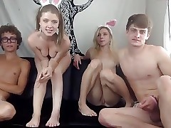 Teen Webcam Foursome Swapping Girlfriends 2