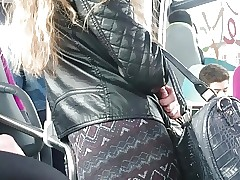 Teen fabulous backside in bus