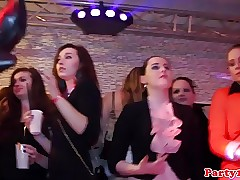 Euro party teens sucking dicks in the club