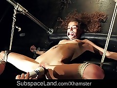 Slave With Dental Gag Extraordinary Rough Orgasm And Pain