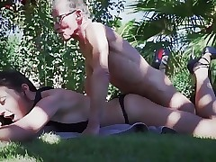 Young Sumptuous Chick Oral pleasure For Old Man And Swallows