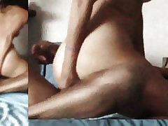 Homemade : Lean Milf Ass fucking Climax from another Point of view