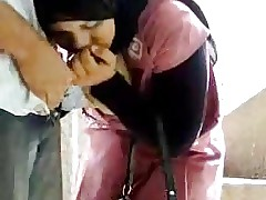 egypt hijab girl with Neighbor son