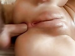 Gorgeous brunette in first time sex video
