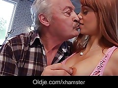 Pornography casting for amateur old man fucking young Erica Fontes