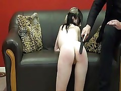 Teen gets spanked in the ass