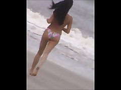 voyeur jiggly running beach rump slow motion 76