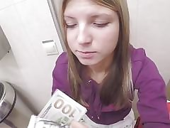 Russian Teenager Enjoys Money