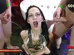 Lean Black-haired Extreme Piss Lover - 666Bukkake