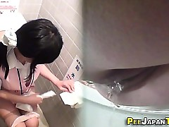 Uniform japanese urinates