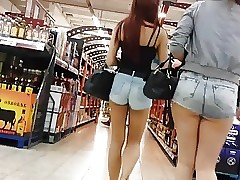 Steamy teens in sexy jeans hotpants