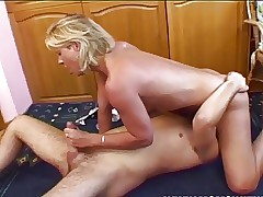 Old & Young - mom spreading for her wild stepson