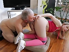 Young small tits Hardcore Old guy and ash-blonde shaved girl