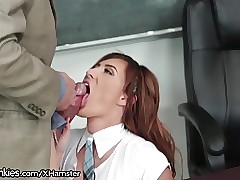 Big-boobed Teen Fucks Teacher and Has Mommy Issues
