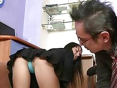 Lewd older teacher is seducing babes beaver