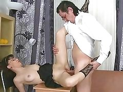 Horny older teacher fucks naughty damsel senseless