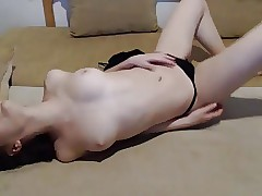 Teen in lingery Panty with Vibrator
