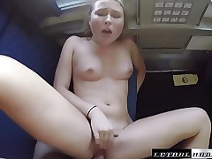 Public Sex on Instructs guy's fortunate travel companion