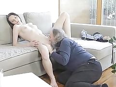 Young babe receives impaled on jock of an old boy