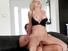 Stepmom Nina Elle seducing her stepson