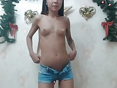 Petite Teen Stroking and Dancing